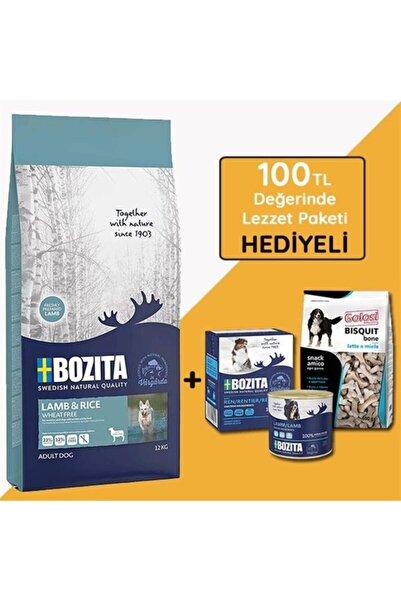 Bozita Glutensiz Kuzu Etli Yetişkin Köpek Mamasi 12 Kg (hediyeli)