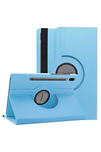 """Microsonic Microsonic Galaxy Tab S6 10.6"""" T860 Kılıf 360 Rotating Deri Mavi"""