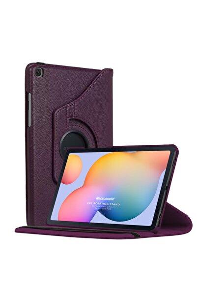 "Microsonic Microsonic Galaxy Tab S6 Lite 10.4"" P610 Kılıf 360 Rotating Deri Mor"