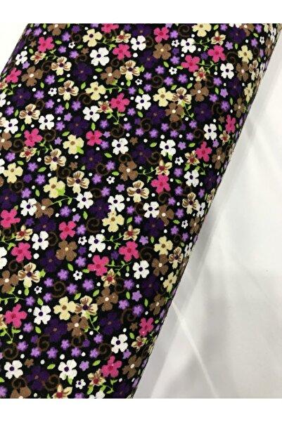 Kumaş Home % 100 Doğal Pamuk Divitin Desenli Pazen Kumaş (tek En 90 Cm) Elbiselik Lila