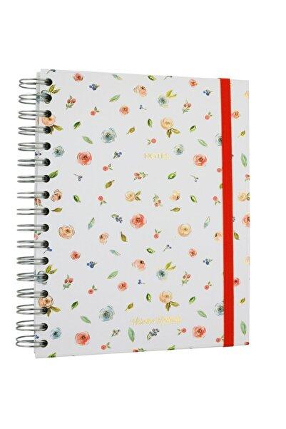 Victoria's Journals Polka Florals Defter 17x24 Cm Noktalı