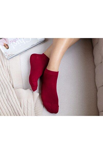 Madame Coco Daily Bambu Pirinç Patik Çorap - Carmen Kırmızı