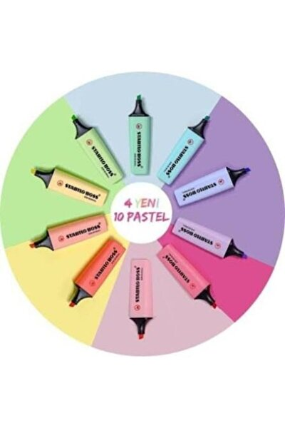 Stabilo Stabılo Yeni Pastel Renkler Boss 10 Renk