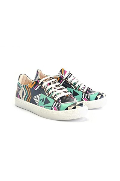 Goby Özel Tasarım Baskılı Etnik Desenli Sneaker