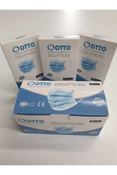 Otto 3 Katlı Telli Medikal Maske/beyaz (50 Adet)