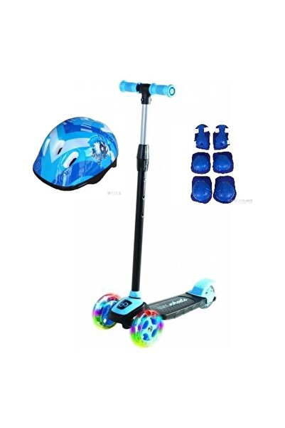 Cool Wheels Led Işıklı 3 Tekerlekli Twist Çocuk Scooter Full Set Mavi