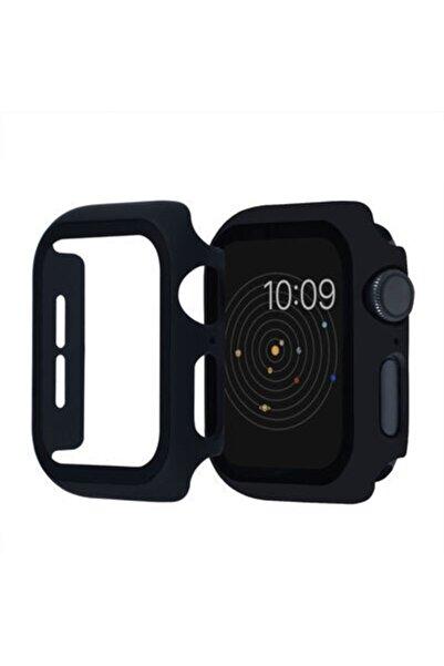 İlkDağ Apple Watch 2 3 4 5 Se 6 40mm Ekran Koruyucu Kılıf Cam 360 Derece Tam Koruma