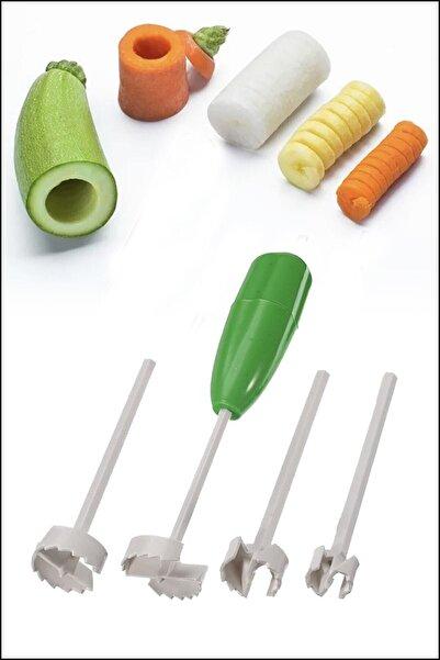 Mercan Dolma, Kabak, Patlıcan, Biber Oyucu 4 Başlıklı Oyma Aparatlı Set