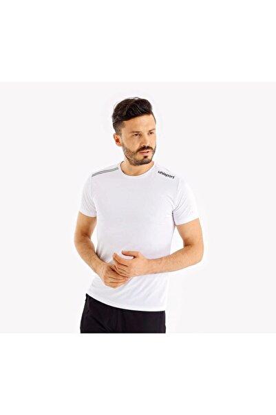 UHLSPORT Erkek Beyaz Yuvarlak Yaka T-Shirt