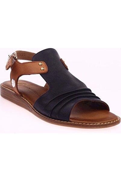 Mammamia Kadın Lacivert Deri Sandalet D20ys-1405