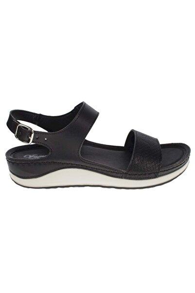 Jump Kadın Siyah Ortopedik Sandalet 190 21677Z