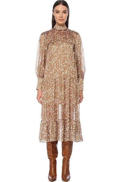 Network Kadın Camel Elbise 1076385