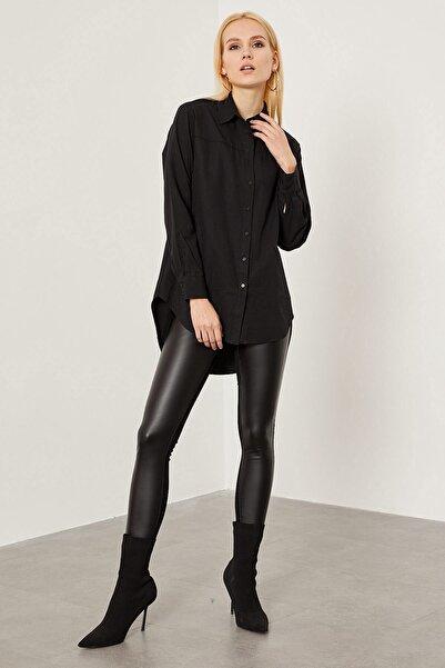 Arma Life Kadın Siyah Klasik Oxford Gömlek