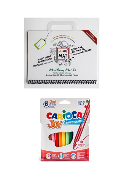 CARIOCA Toospik Akademi Çocuk Funny Mat Mini Set&carioca Joy 12'li Keçeli Kalem Seti