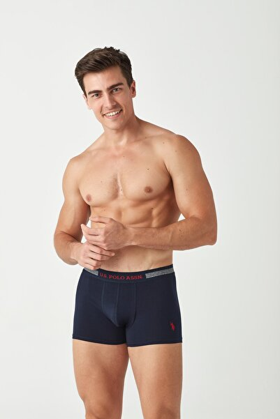 U.S. Polo Assn. Erkek Lacivert - Antrasit Melanj 2 li Boxer