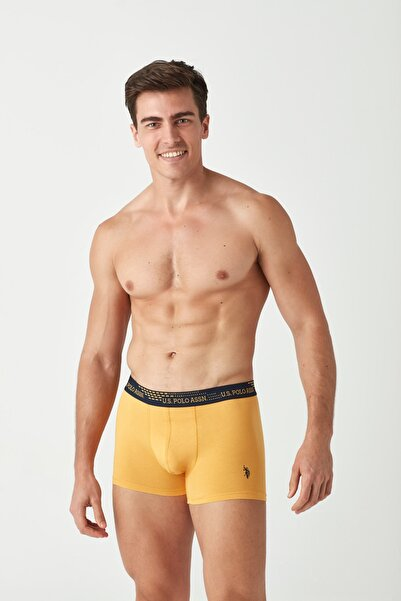 U.S. Polo Assn. Erkek Sarı - Lacivert 2 li Boxer
