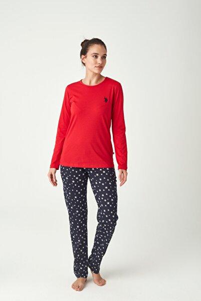 U.S. Polo Assn. Kadın Kırmızı Pijama Takımı