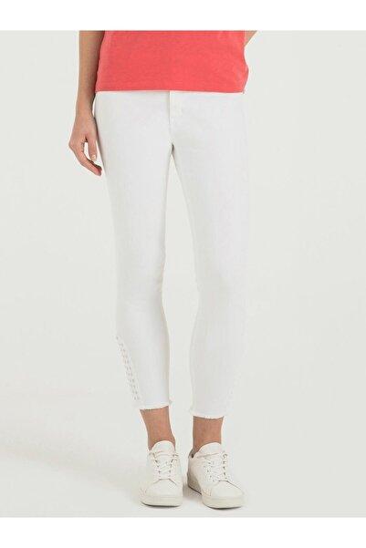 Loft Kadın Beyaz Pantolon LF2016492