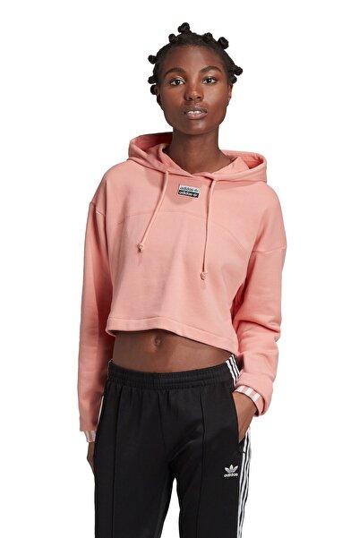adidas R.Y.V. Cropped Kapüşonlu Kadın Pembe Sweatshirt GD3088-S