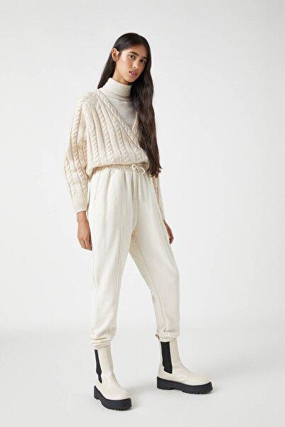 Pull & Bear Kadın Buz Rengi Paçaları Elastik Jogging Fit Pantolon 04676303