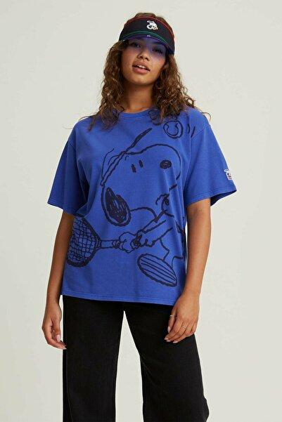 Levi's Kadın Mavi Snoopy Baskılı T-Shirt
