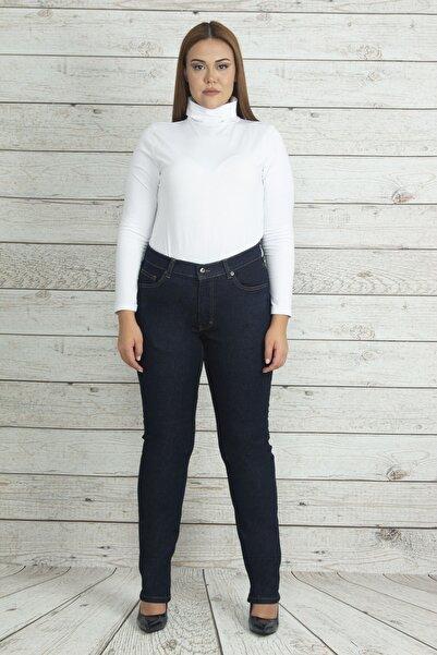 Şans Kadın Lacivert Yüksek Bel 5 Cep Kot Pantolon 65N19992