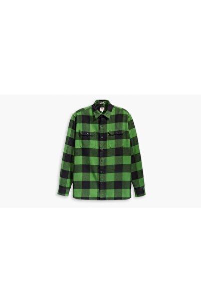 Levi's Erkek Yeşil Ekose Desenli Gömlek 19573-0095