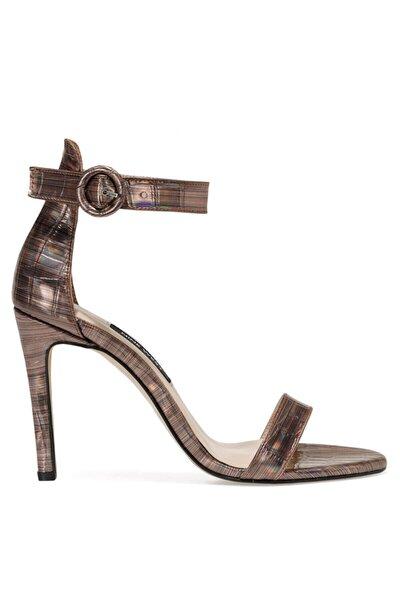 Nine West Lındıt Bronz Kadın Topuklu Sandalet
