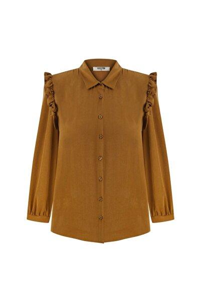 Mudo Kadın Sarı Fırfır Detaylı Gömlek