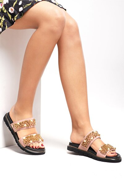 Ferre Kadın Pudra Sandalet Ayakkabı