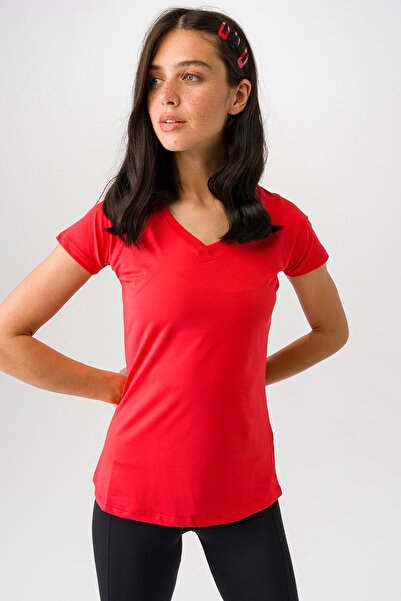 Runever Kadın Kırmızı T-shirt 0099