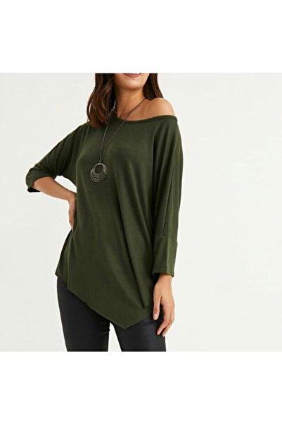 Şans Kadın Yeşil Kolyeli Bluz