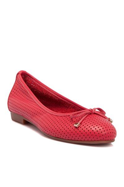 Tergan Kadın Kırmızı Babet 64506a30
