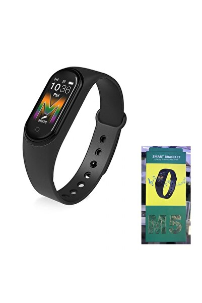 Polosmart Bluetooth M5 Siyah Akıllı Bileklik Nabız Ölçer
