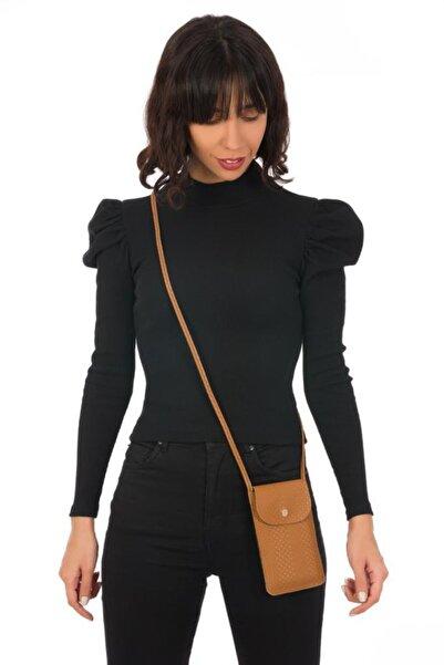 ESPARDİLE Kadın Kahverengi Kartlık Bölmeli Mini Çanta