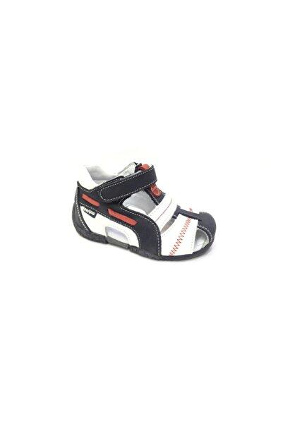 Perlina Unisex Çocuk Lacivert Ortopedik Hakiki Deri İlk Adım Ayakkabısı