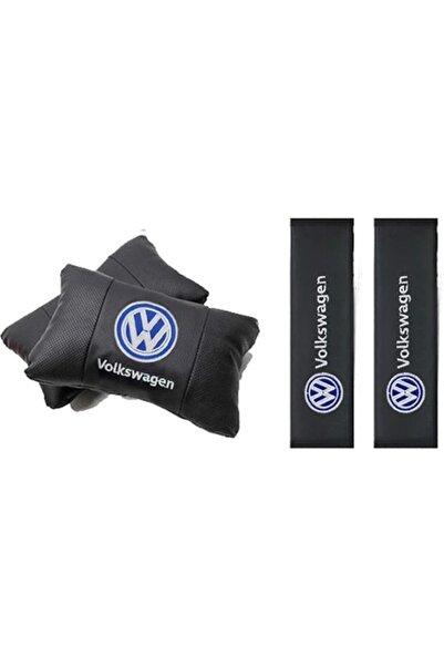 kıraçotom Volkswagen Deri 2 Adet Boyun Yastığı Ve Kemer Pedi Takımı