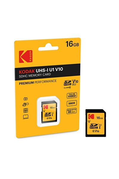 Kodak Sd 16gb Uhs1 U1 V10 Premium Performans Sd Hafıza Kartı