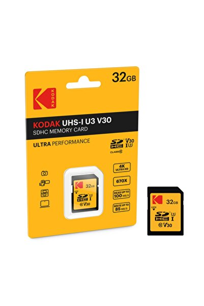 Kodak Sdxc 32gb Class10 U3 Ultra Performans Sd Hafıza Kartı