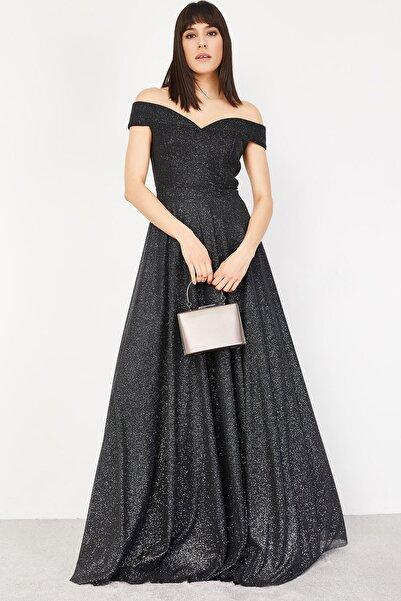 Lafaba Kadın Siyah Abiye Elbise
