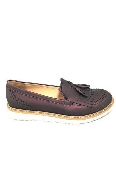 Mumi Kadın Gri Günlük Klasik Bağcıksız Loefer Ayakkabı