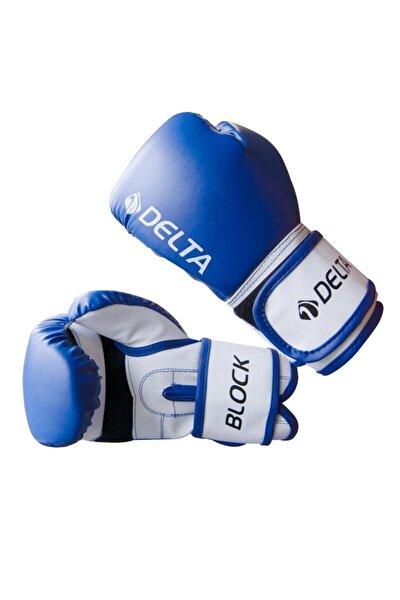 Delta Block Dura-strong Çantalı Mavi-beyaz Boks Eldiveni
