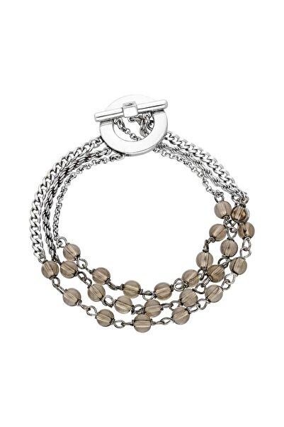 Elle Kadın Üç Sıra Taşlı Gümüş Bileklik