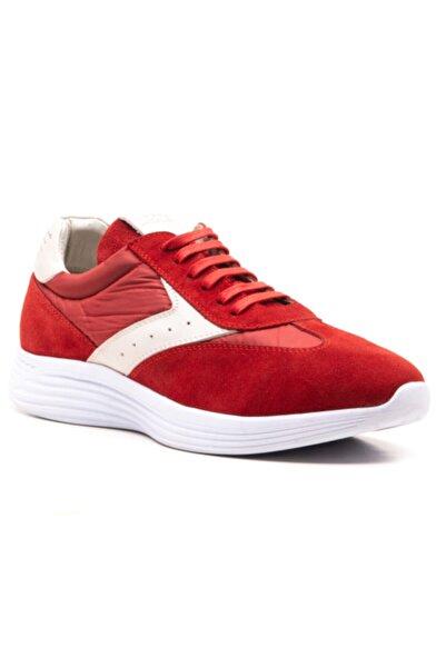 Ferre Erkek Kırmızı Hakiki Deri Sneaker Ayakkabı
