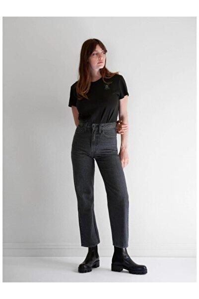 Levi's Kadın Gri Ribcage Straight Ankle Yüksek Bel Jean