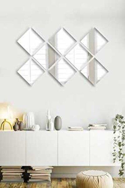 8 Parça 20x20cm Antre Hol Koridor Duvar Salon Mutfak Banyo Wc Ofis Çocuk Yatak Odası Set Ayna