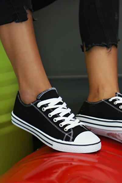 Kadınelishoes Kadın Siyah Ayakkabı