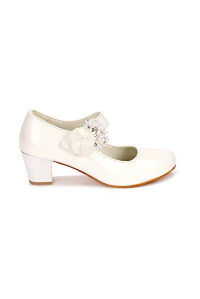 Kiko Kids Kız Çocuk Beyaz Babet Ayakkabı
