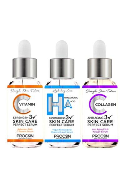 Procsin C Vitamini Serum 20ml-hyaluronic Asit 20ml-kolajen Serum 20 ml Cilt Bakım Seti