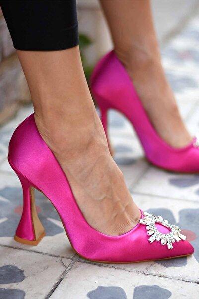 Miss Papatya Ayakkabı Kadın Pembe Fiago Stiletto Ayakkabı